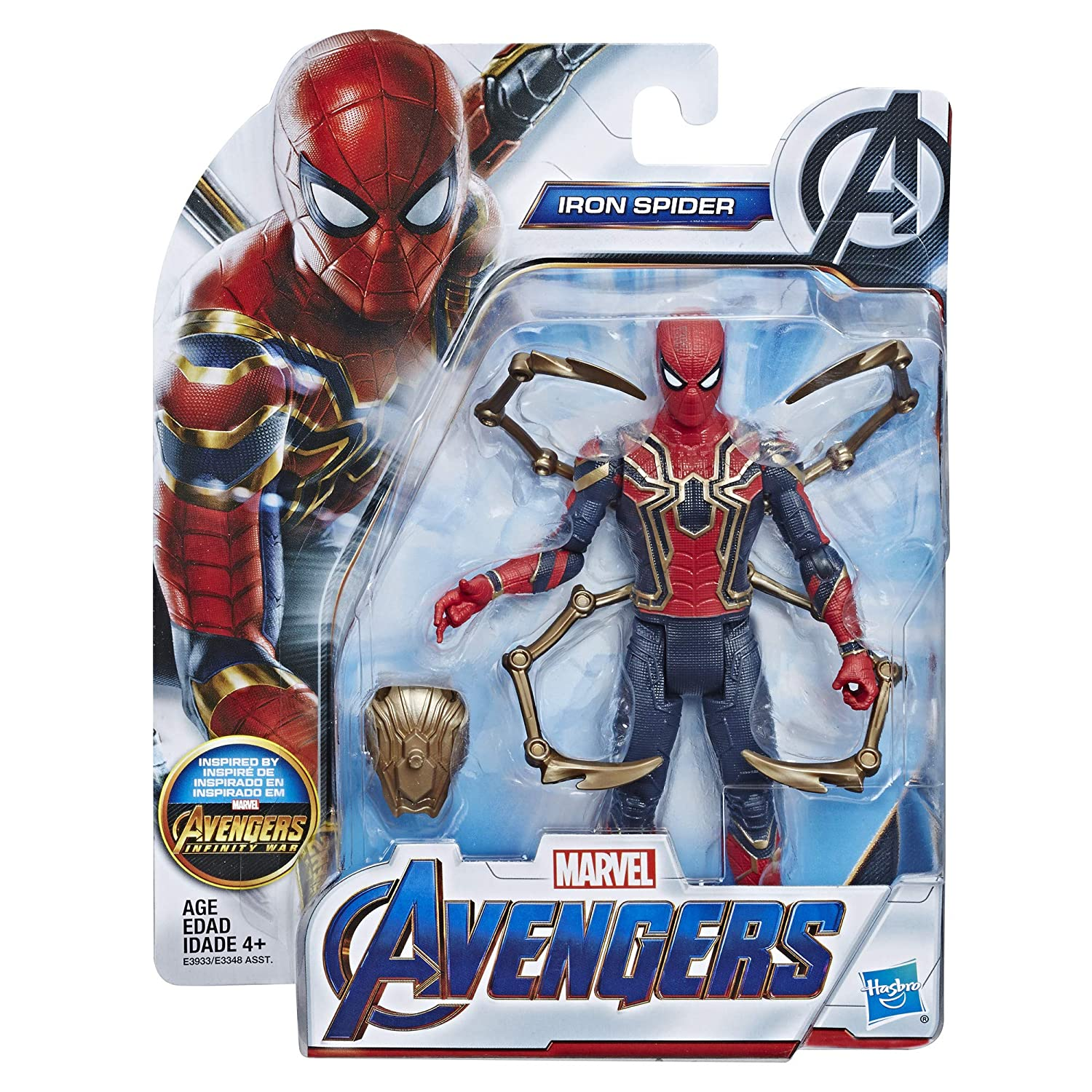 Avengers Marvel Iron Spider 6-Inch-Scale Marvel Super Hero Action Figure Toy