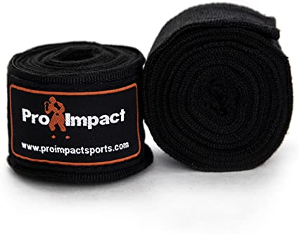 """New Pro Impact Mexican Style Boxing Handwraps 180/"""" with Closure Elastic Han.."""