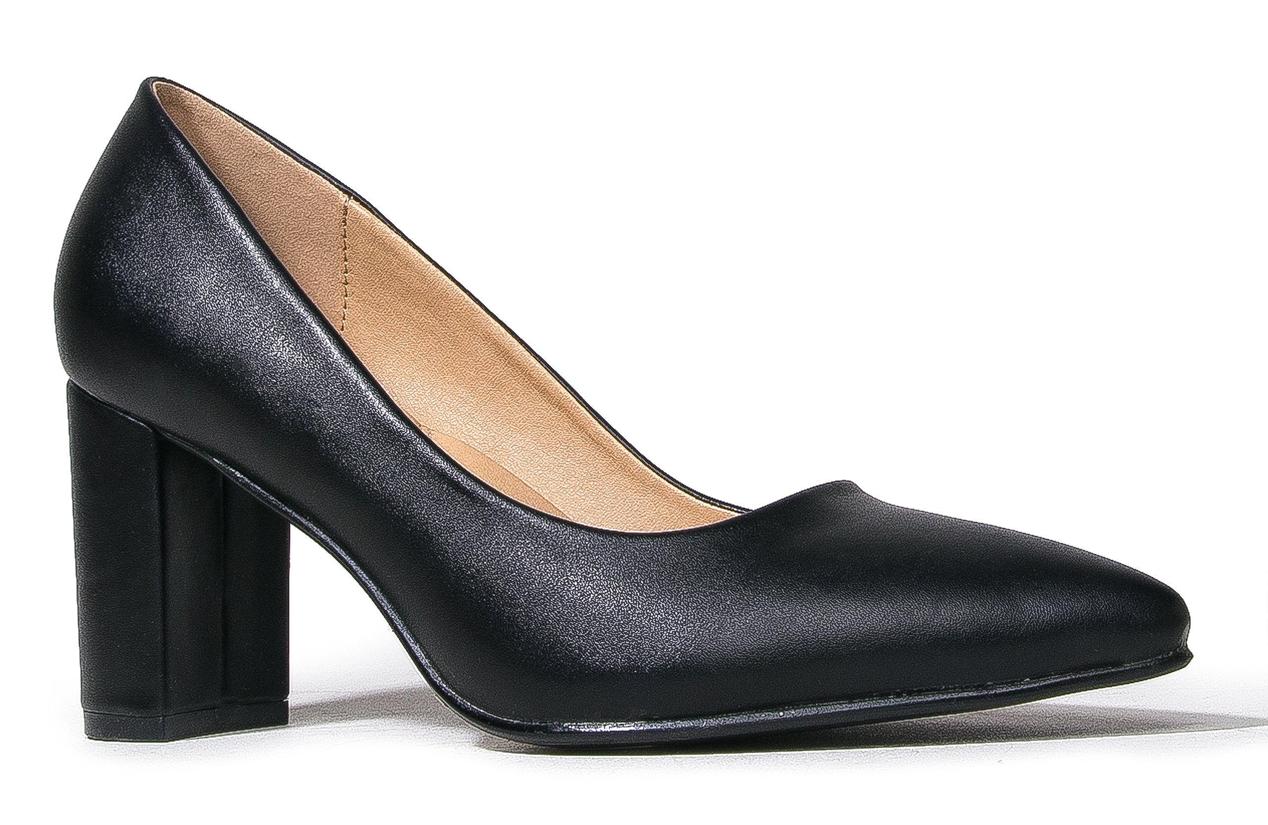 J. Adams Jolie Pumps, Black PU, 10 B(M) US