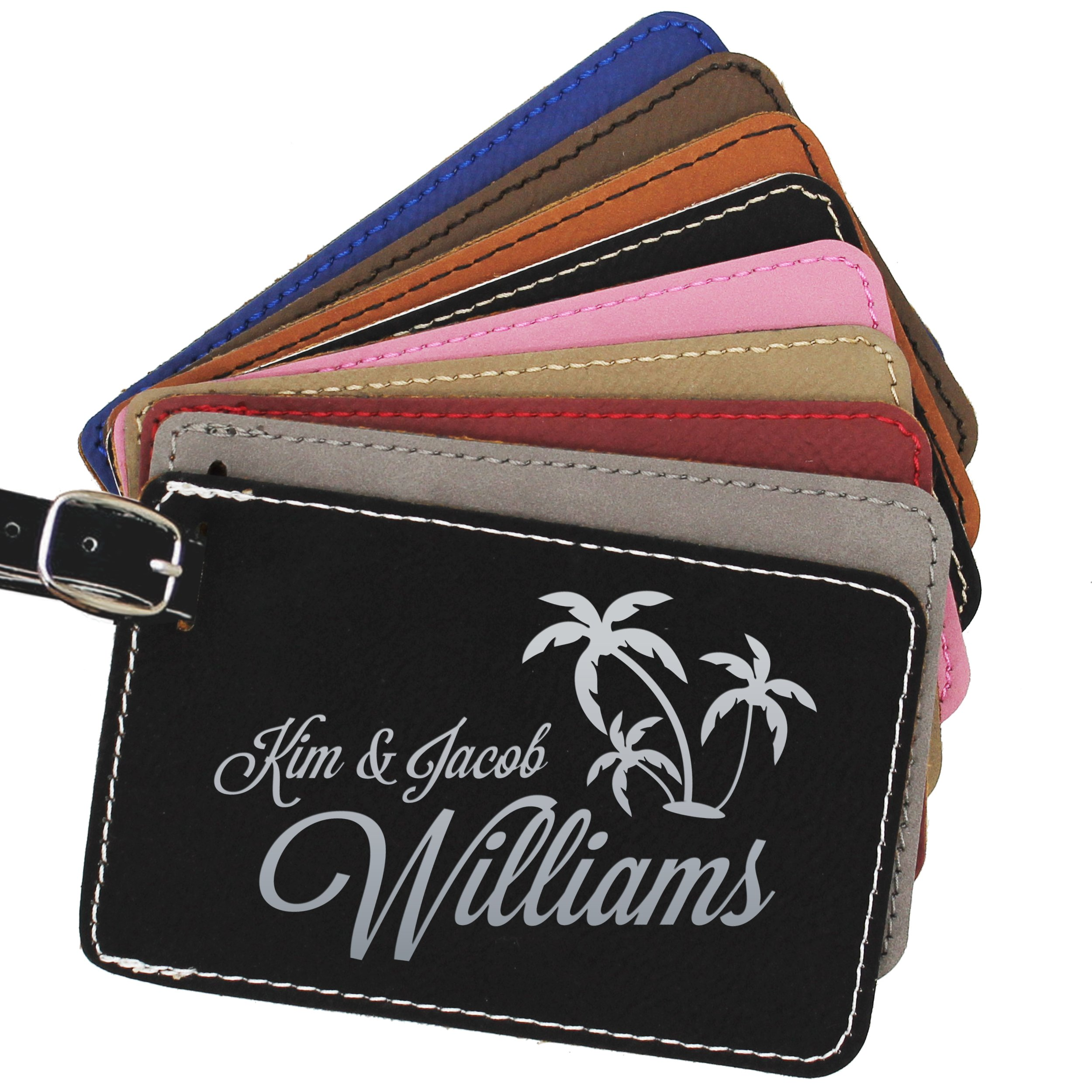 Custom Luggage Tags - Engraved Personalized Monogrammed Business and Traveler Gift