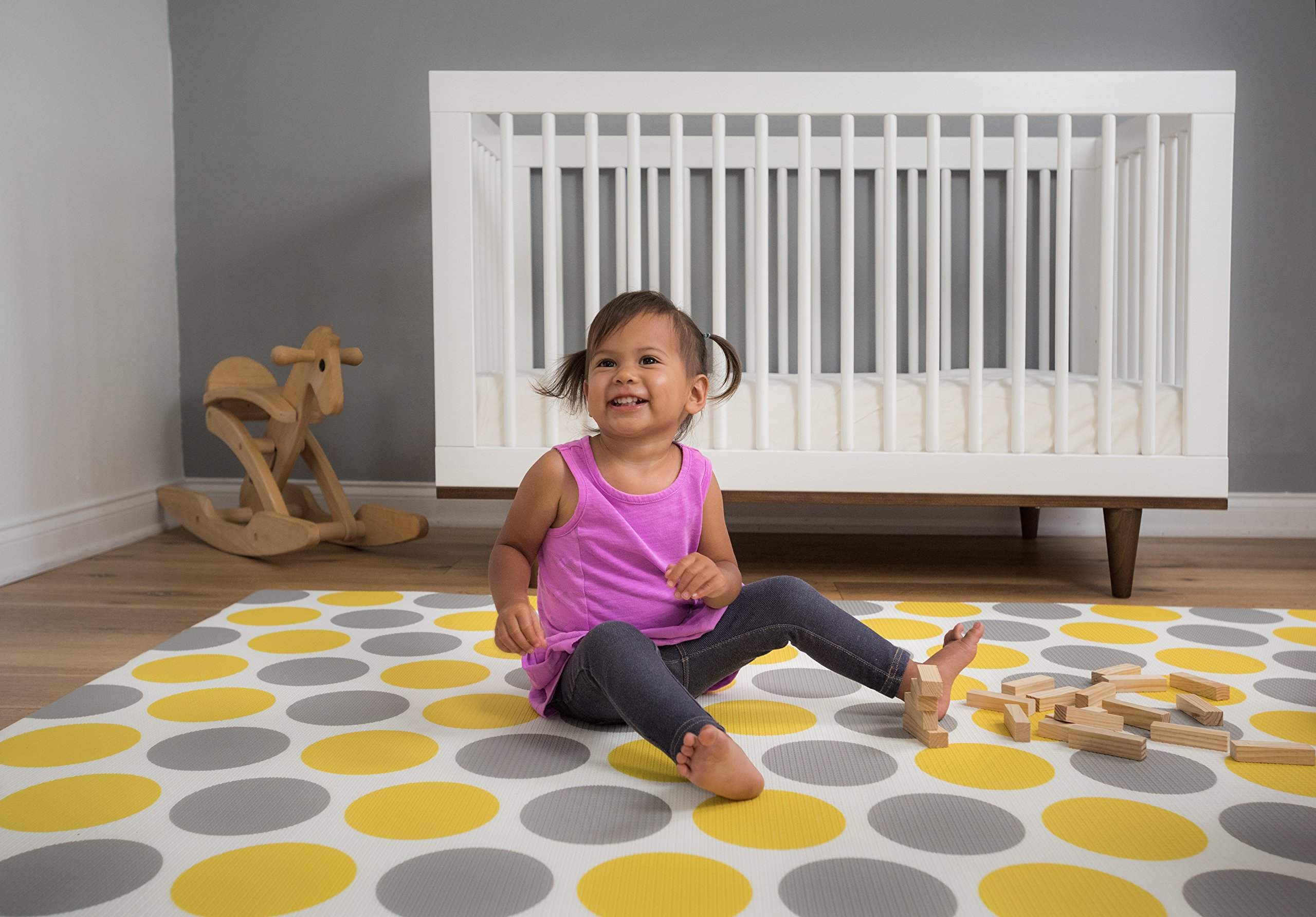 Baby Play Mat – For Babies, Toddlers and Kids – Protect Your Child With This Stylish Soft Play Rug – Attractive, Modern and Sophisticated Design – Tested to Rigorous Safety Standards