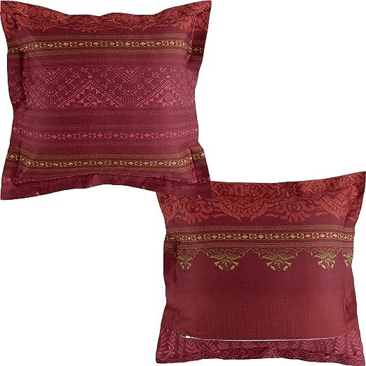 Bassetti Urbino Funda de cojín, algodón, Rojo, 40 x 40: Amazon.es ...