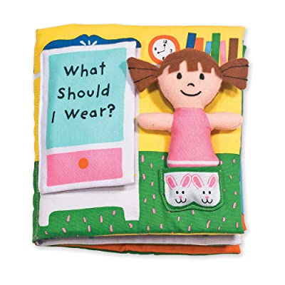 Melissa & Doug Soft Activity Baby Book - What Should I Wear?: Melissa & Doug: Toys & Games