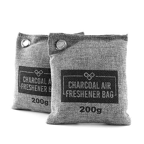 Natural Closet Air Freshener Purifier, Shoe Deodorizer U0026 Car Activated  Bamboo Charcoal Moisture Odor Absorber