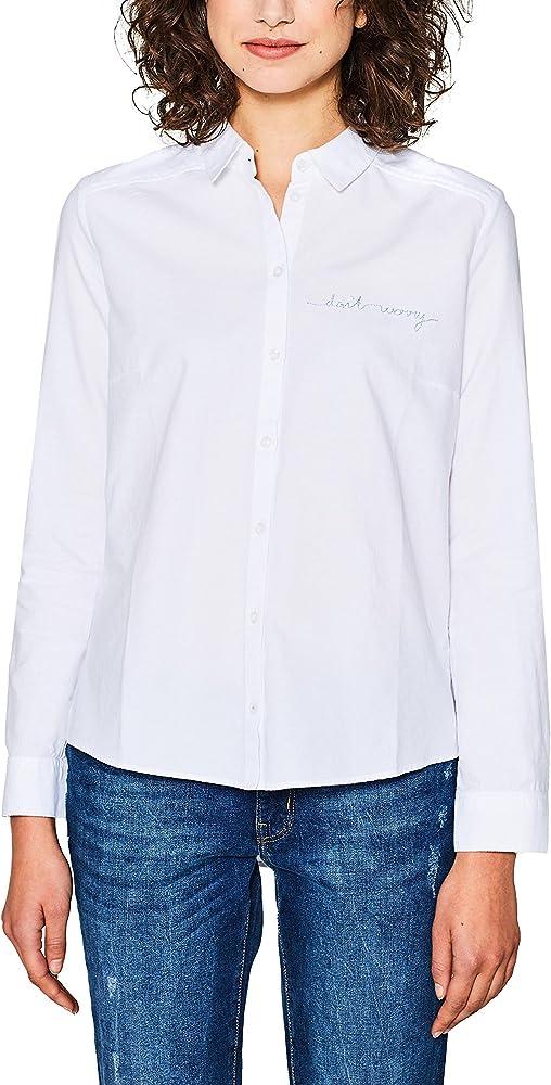 edc by Esprit 018cc1f013 Blusa, Blanco (White 100), Small para Mujer: Amazon.es: Ropa y accesorios