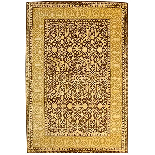 Safavieh Silk Road Collection SKR213F Handmade Brown and Ivory New Zealand Wool Area Rug 5 x 8