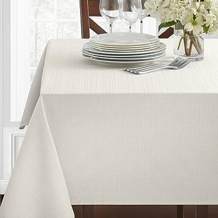 amazon com benson mills textured fabric tablecloth white 60 x
