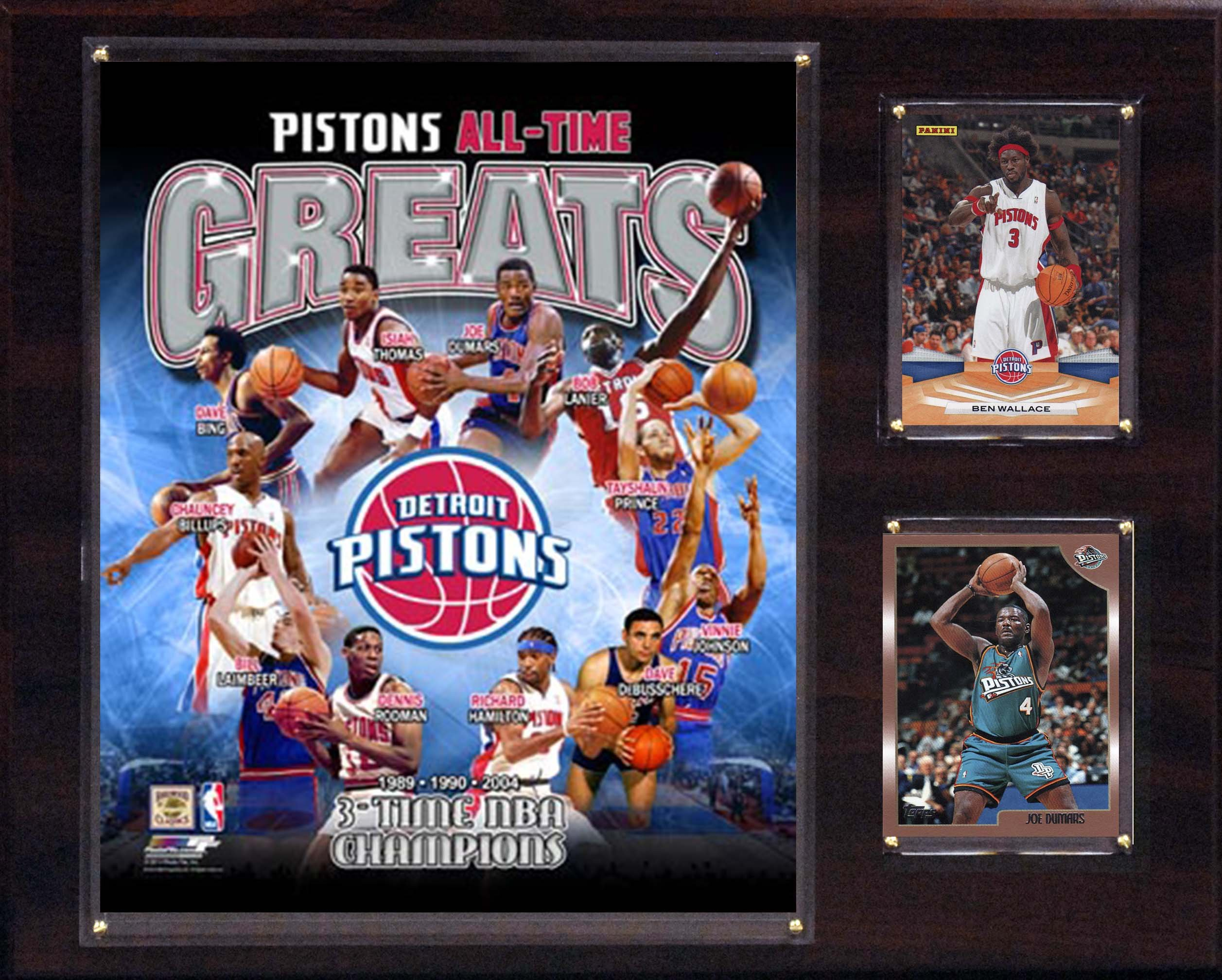 NBA Detroit Pistons All-Time Great Photo Plaque, 12 x 15-Inch