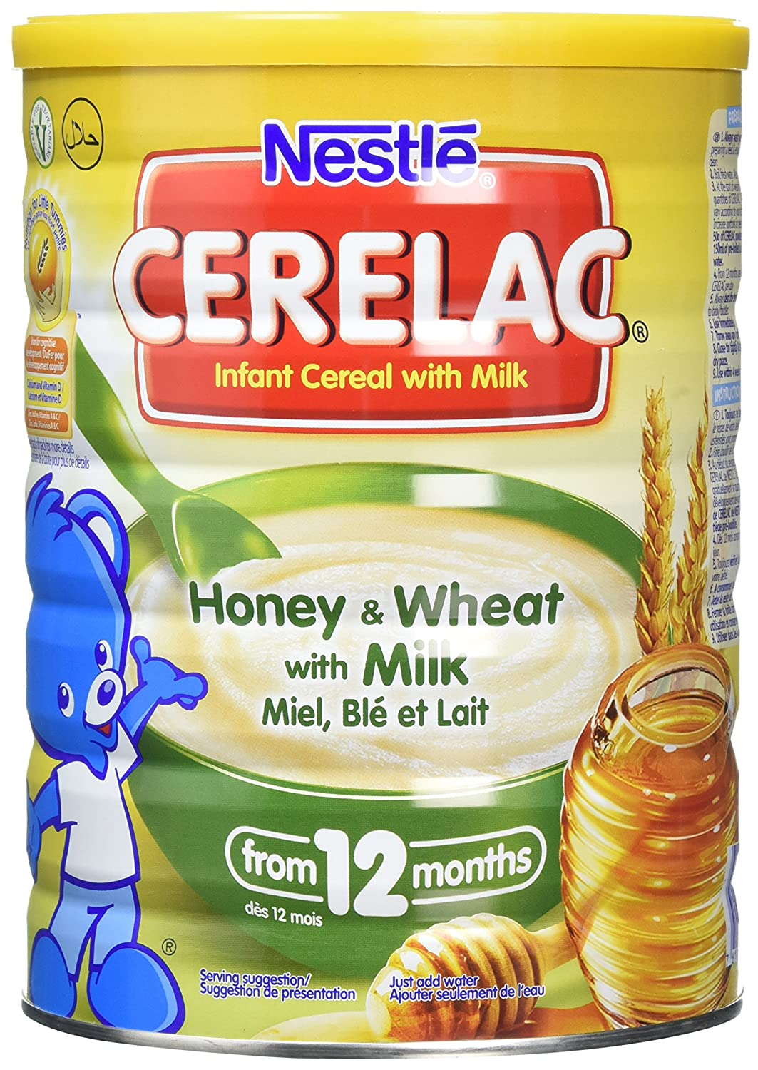 Nestlé CERELAC Wheat and Honey with Milk Infant Cereal 1kg, 12 months+ (Pack of 2) A1B150