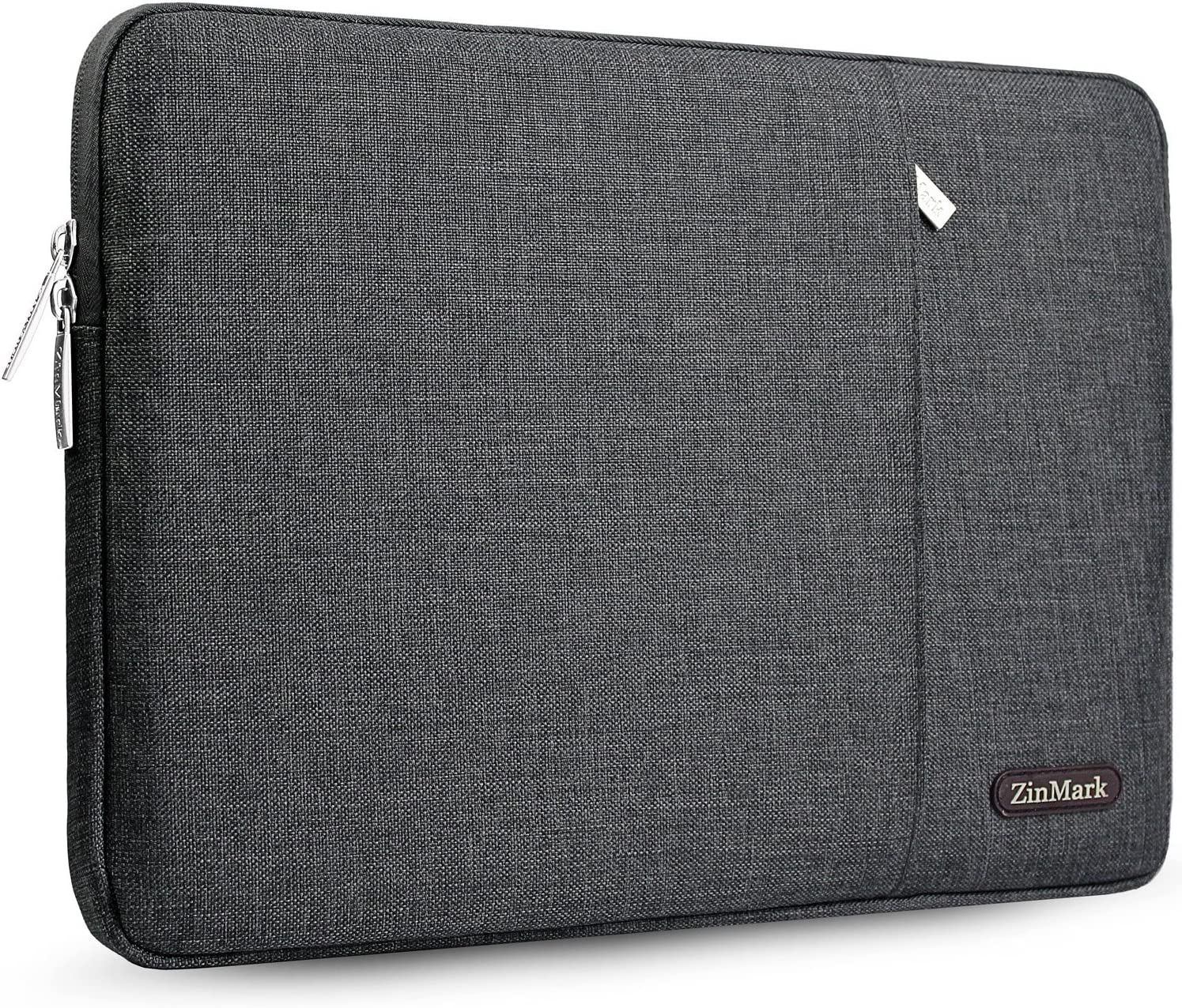 "ZinMark Laptop Sleeve Case 13-13.3 Inch Compatible MacBook Air 13"" (2012-2017) / MacBook Pro 13"" Without Retina A1278 and Most 14 Inch Notebooks, Spill-Resistant Protective Bag, Dark Gray"