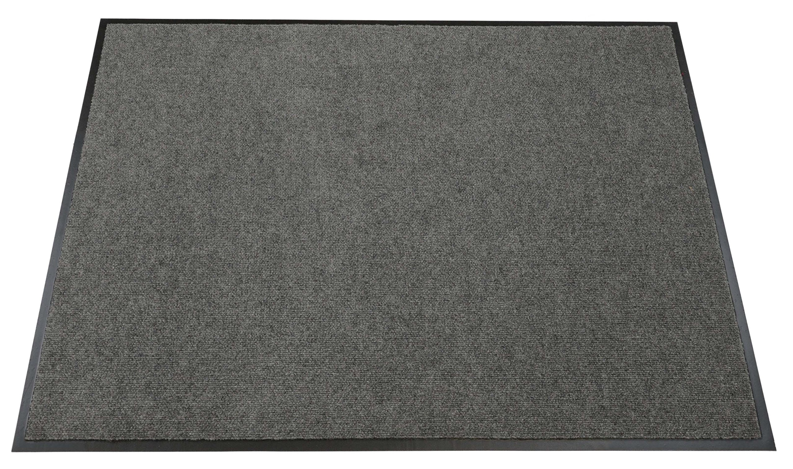 Americo Manufacturing 6406034 Camelot Smooth Ribbed Surface Indoor Matting, 3' x 4', Gray