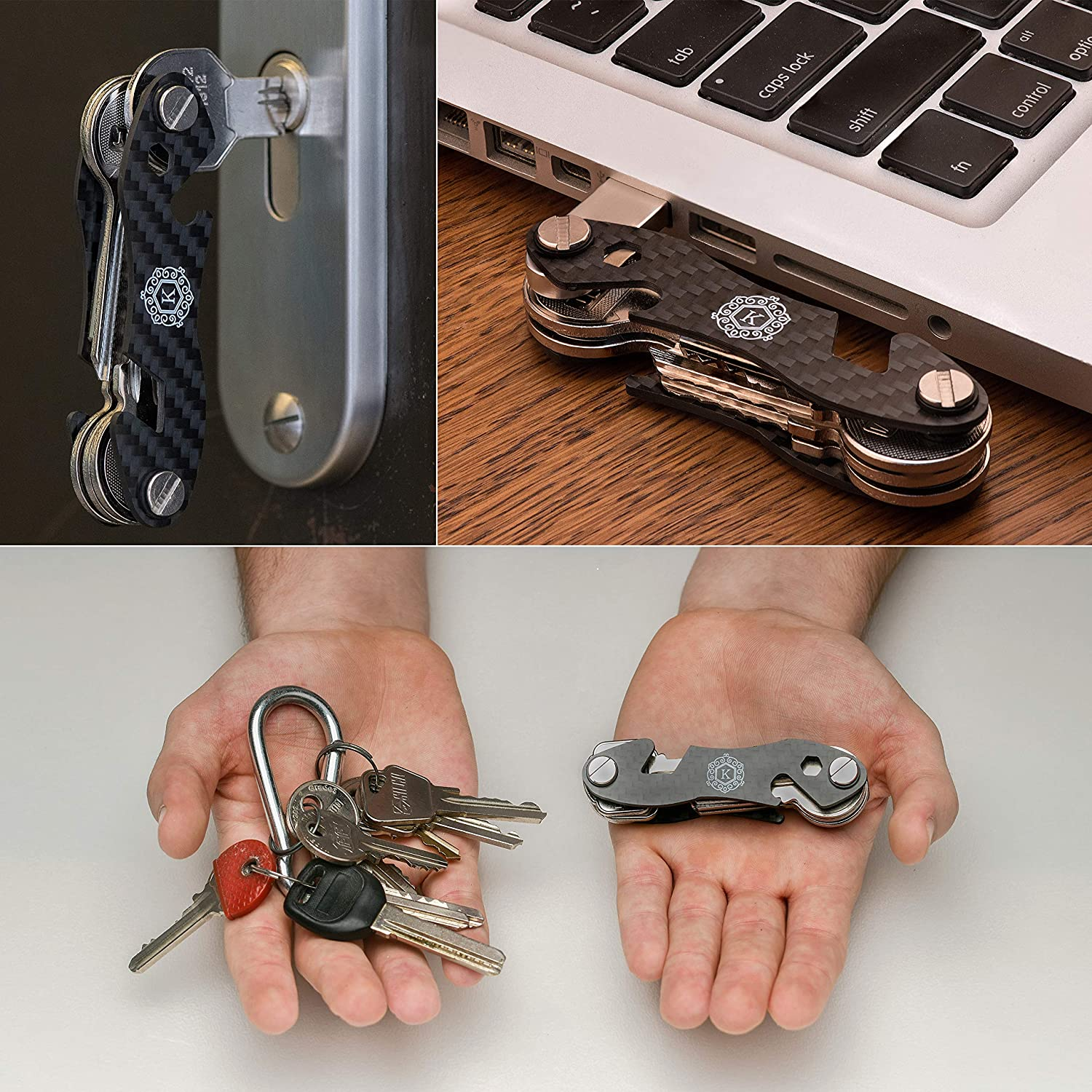 Amazon.com: KINGSMEN Smart Compact Key Holder Organizer ...