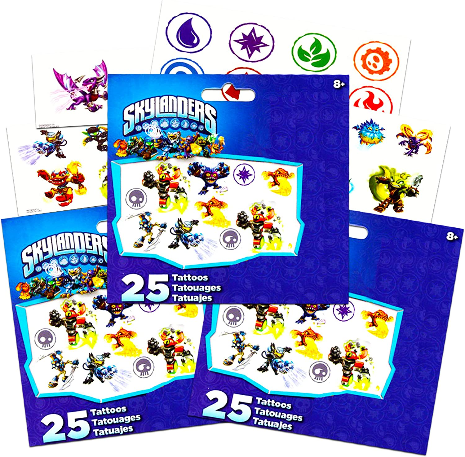 12 Skylanders Superchargers Stickers Kid Party Goody Loot Gift Bag Favor Supply