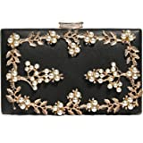 Evening Clutch, Pearl Evening Bags Bridal Wedding Purses Handbags for Women Cocktail Prom