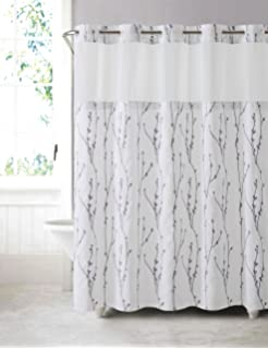 Shower Curtain With Attached Liner Curtain Menzilperde Net