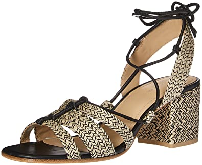Pour La Victoire Women's Amada Dress Sandal, Black/Natural, ...