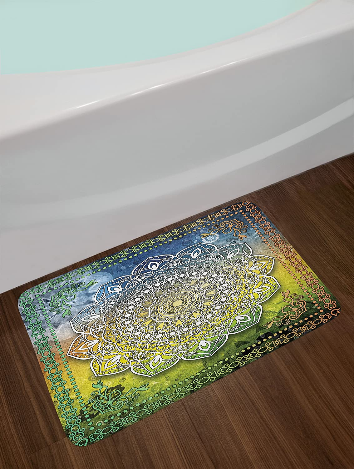 Cream Peach Coral Ambesonne Dragonfly Bath Mat Lotus Flower Field with Dragonfly Flying Oriental Blooms Artful Print Plush Bathroom Decor Mat with Non Slip Backing 29.5 W X 17.5 L Inches