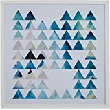 "Amazon Brand – Rivet Teal Geometric Print in White Frame, 18"" x 18"""