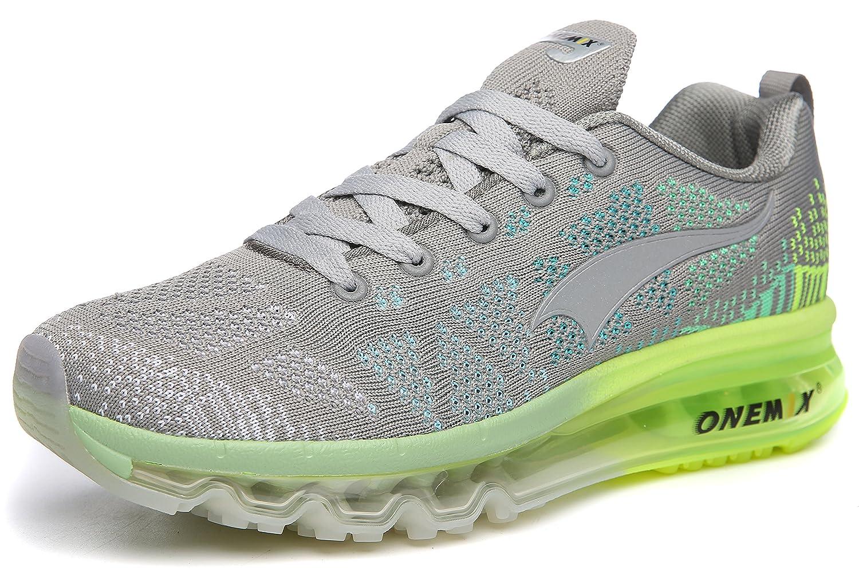 ONEMIX Womens Air Cushion Outdoor Sport Running Shoes Lightweight Casual Sneakers B078WN55PJ Men 8(M)US 41EU/Women 9.5(M)US 41EUR Grey2