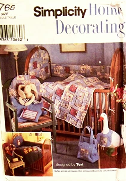 Amazon.com: Simplicity 7766 Sewing Pattern Baby Nursery Accessories ...