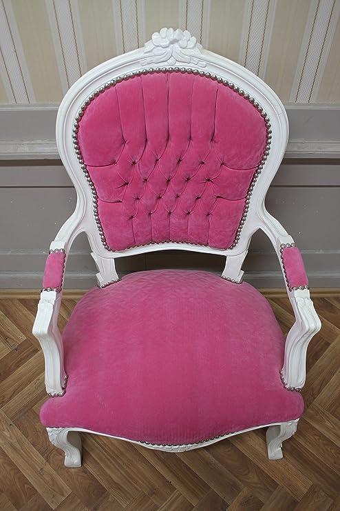 LouisXV sillones Antiguos Pintados, Blanco, Rosa Referencia ...