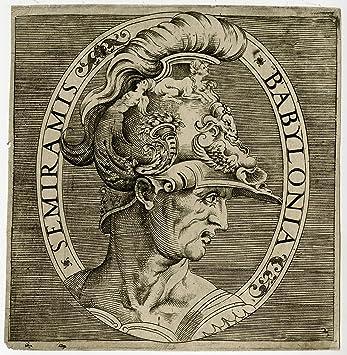 Amazon.com: Rare Antique Master Print-PORTRAIT-SEMIRAMIS ...