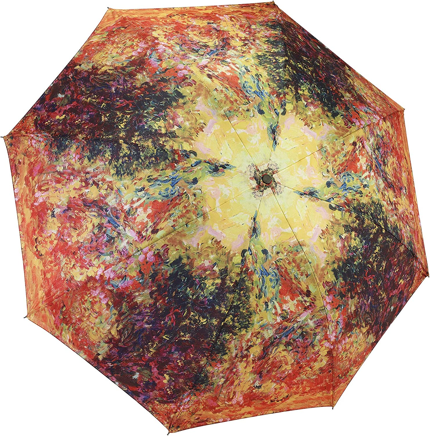 Galleria Reverse Close Folding Umbrella, The Artist's House from the Rose Garden