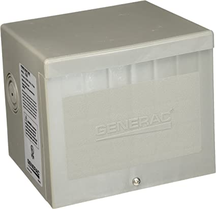 Generac 6338 50-Amp 4-Wire 125//250V Raintight Non-Metallic Power Inlet Box
