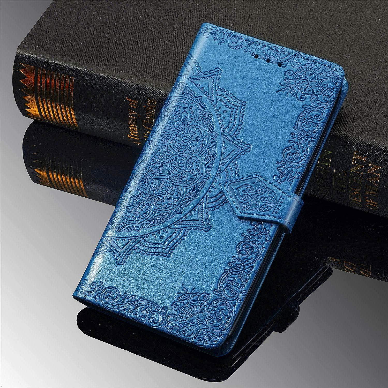 Funci/ón de Soporte Billetera PU Cuero Funda para Realme 6 PU Cuero Flip Folio Carcasa Cierre Magn/ético MRSTER Funda Compatible con Realme 6 SD Mandala Blue