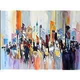 Abstraktes Bild - New York Gemälde - Colorful New York Skyline - Martin Klein - Abstraktes Ölgemälde kaufen - Acrylbilder Kaufen