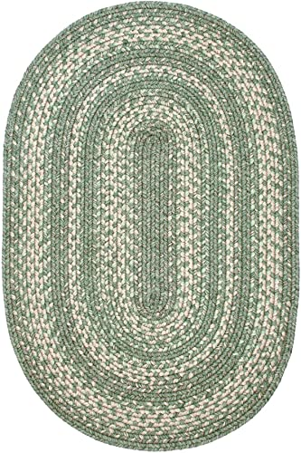 Homespice Decor – 8 x 10 Oval Hillside Ultra Durable Braided Rug