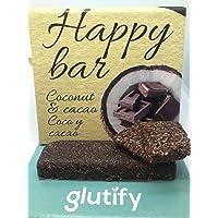 Glutify barritas orgánicas de coco y cacao 40g|100%
