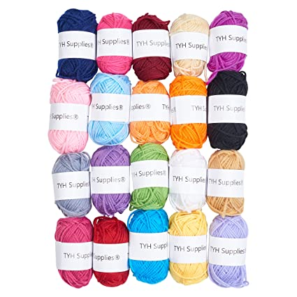8e2b46542a0c Amazon.com  TYH Supplies Acrylic Yarn Assorted Colors Skeins ...