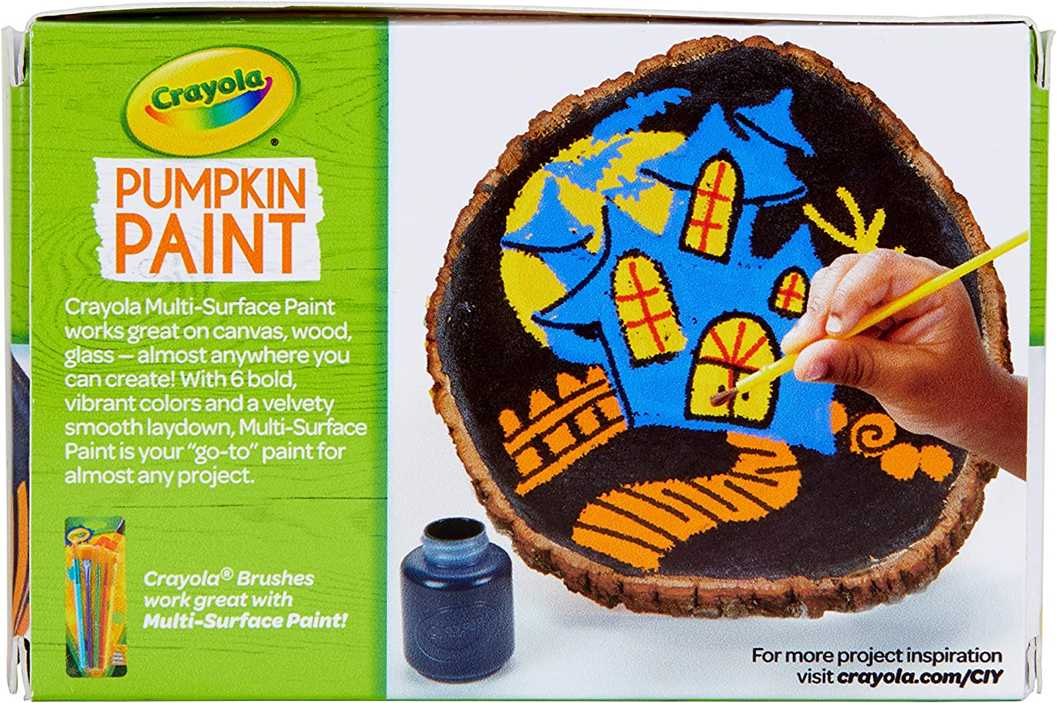 Crayola Pumpkin Paint Kit, Acrylic Paints in Classic Colors, Halloween Decorations, 6Count: Toys & Games