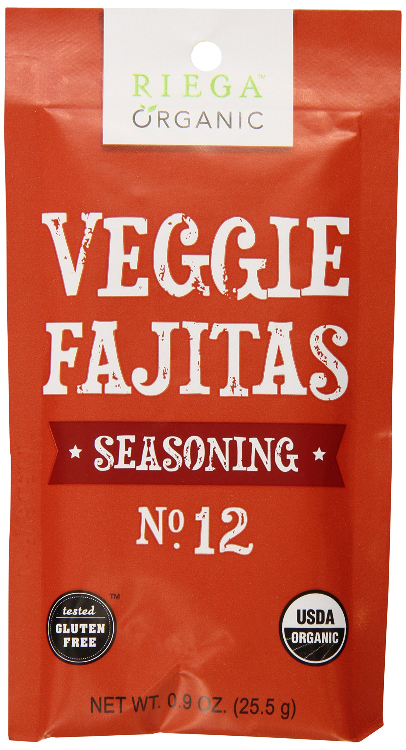 Riega Organic Veggie Fajita Seasoning (Pack of 8) by Riega