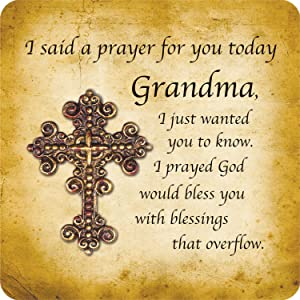 CB Gift Heartfelt Collection I Said A Prayer Sculpted Magnetic Cross, 4 x 6-Inches, Grandma