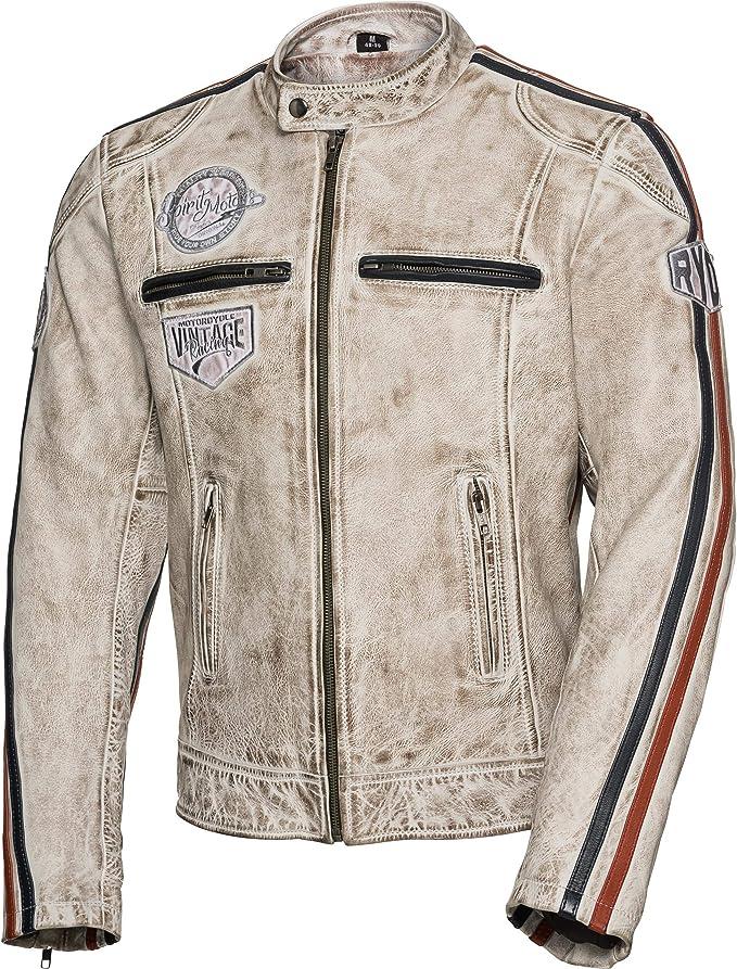 Spirit Motors Motorradjacke Mit Protektoren Motorrad Jacke Retro Style Lederjacke 3 0 Herren Chopper Cruiser Ganzjährig Bekleidung
