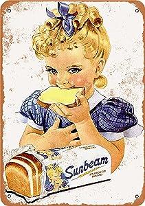 Wall-Color 10 x 14 Metal Sign - 1954 Sunbeam Bread Girl - Vintage Look