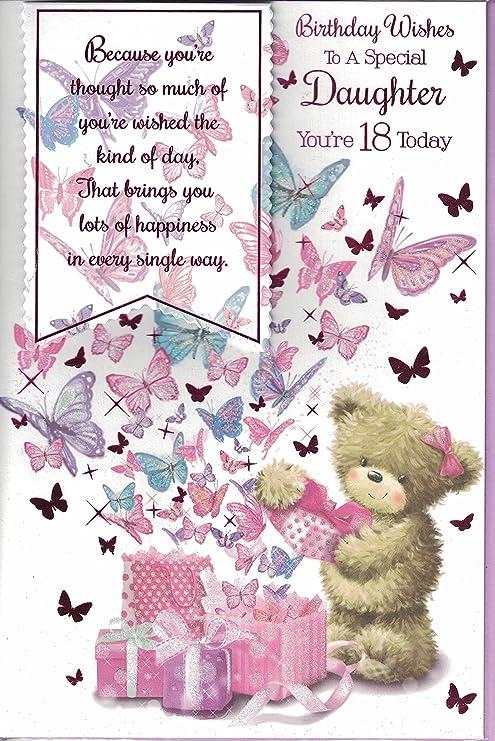 Hija 18th Tarjeta de cumpleaños ~ deseos de cumpleaños para ...