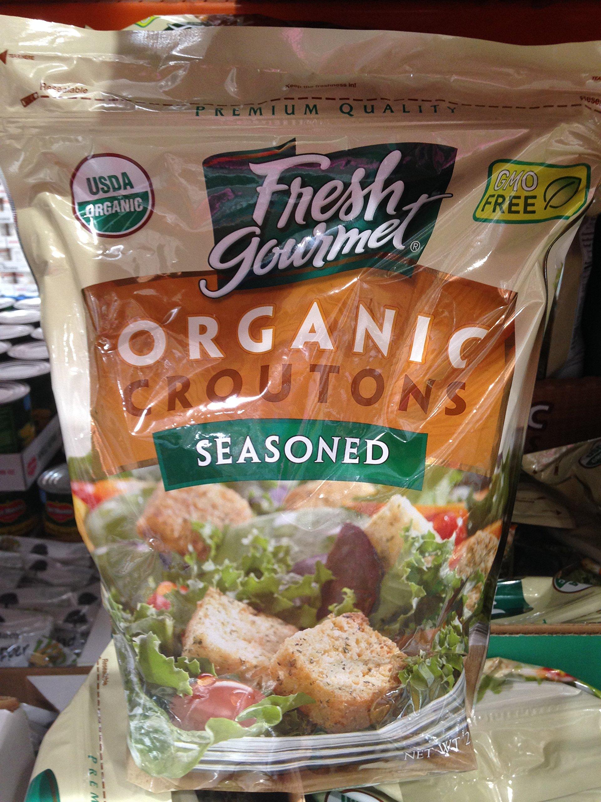 Fresh gourmet organic croutons 32 oz (pack of 2)