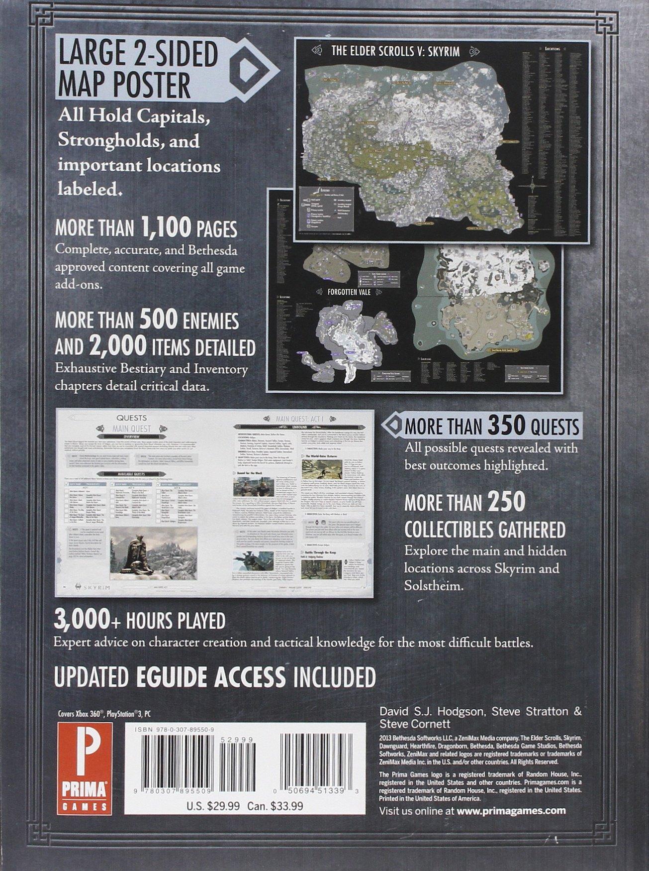 elder scrolls v skyrim legendary standard edition prima official rh amazon com Skyrim Cheats Skyrim Strategy Guide vs Atlas