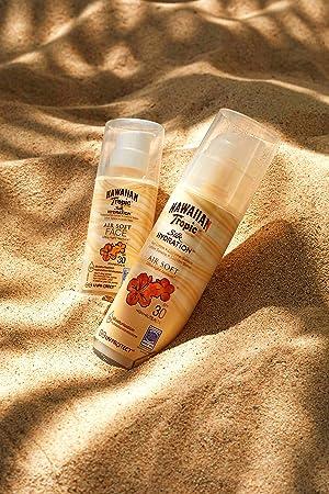 Hawaiian Tropic Silk Hydration Air Soft Face SPF 30 - Loción Solar Protectora para el Rostro, Crema Hidratante Facial con Protección, 50 ml