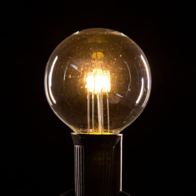 Box Of 25 G50 Led Diode 6 Watt C9 E17 5 8 Intermediate Base 2 Inch Clear Replacement Light Bulbs Home Improvement Amazon Com