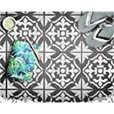 Gibraltar Tile Furniture Wall Floor Stencil for Painting - X Small
