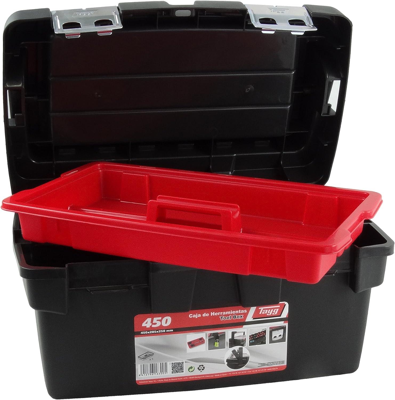 Tayg Caja herramientas plástico aluminio n. 450, 450 x 285 x 250 ...