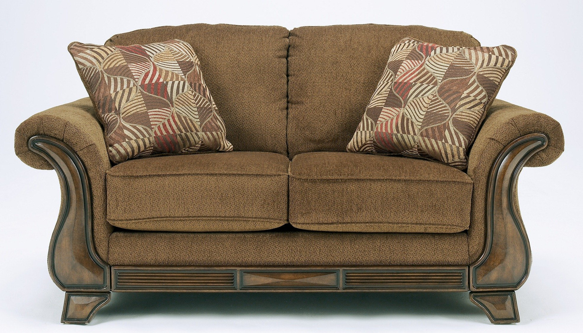 Ashley Furniture Signature Design - Montgomery Loveseat Sofa - Traditional Style Couch - Mocha Brown