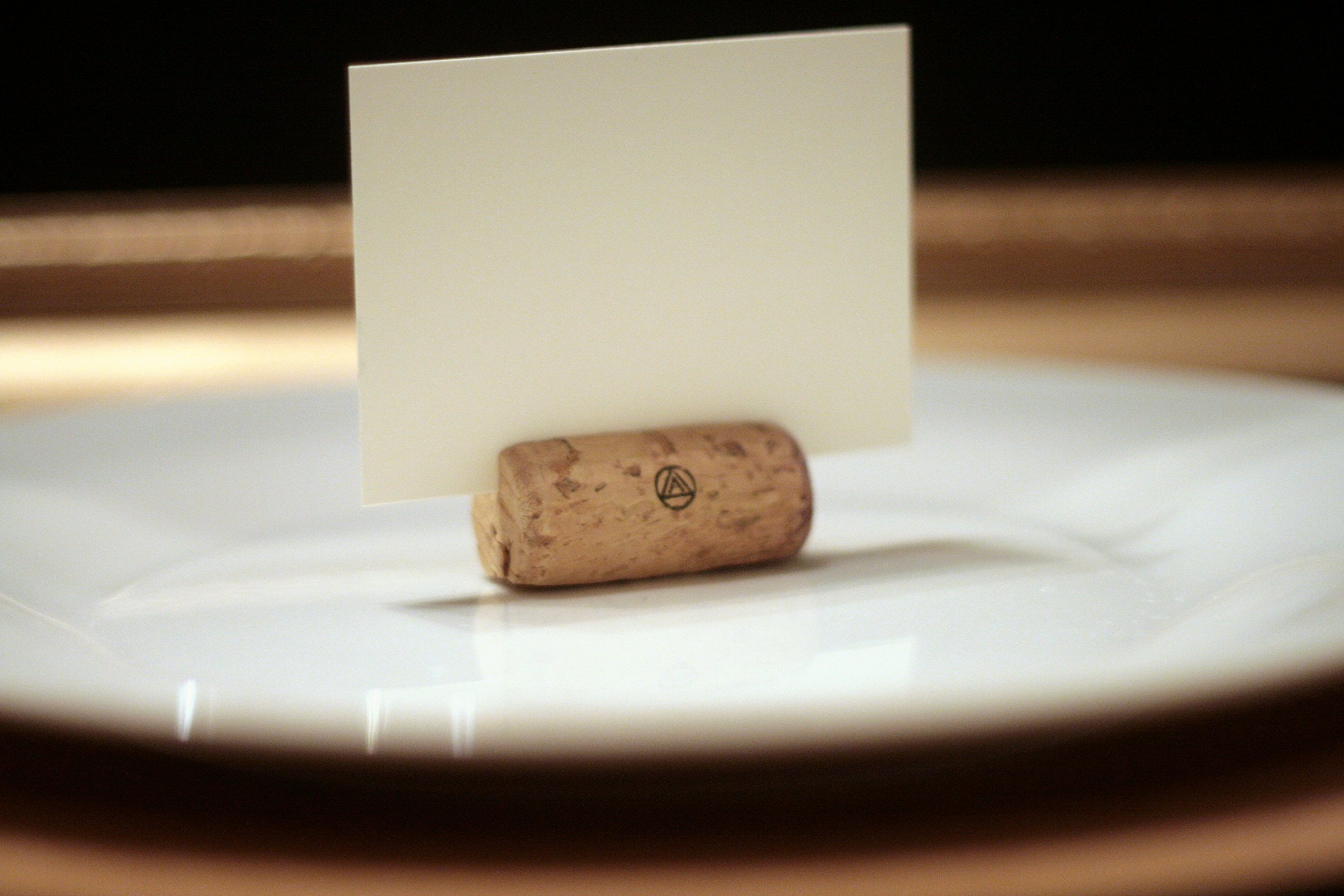 Recycled Wine Cork Place Card Holders Set Of One Hundred And Fifty (150), Vineyard Wedding, Rustic