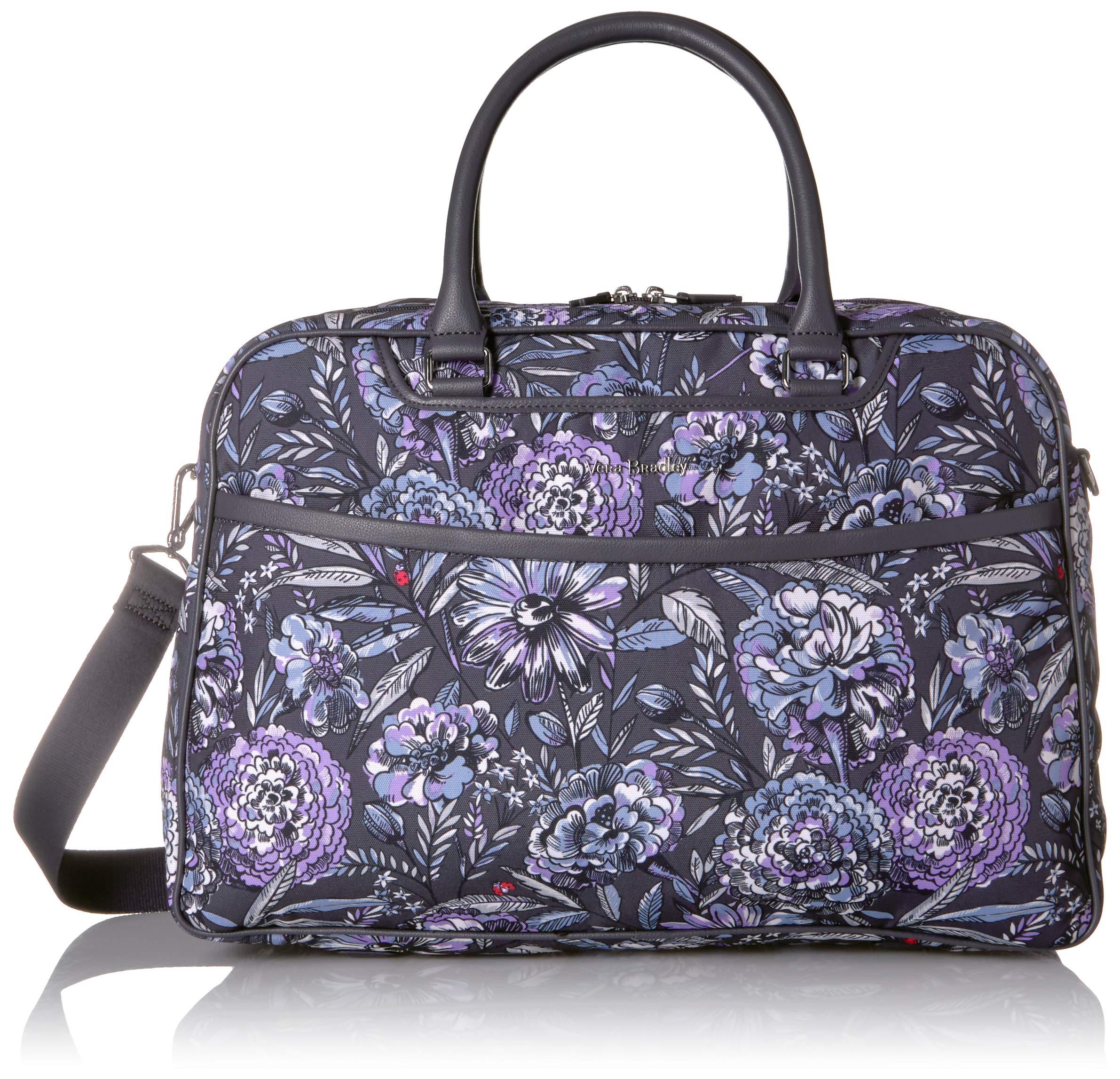 Vera Bradley Iconic Lay Flat Weekender Bag, Lavender bouquet