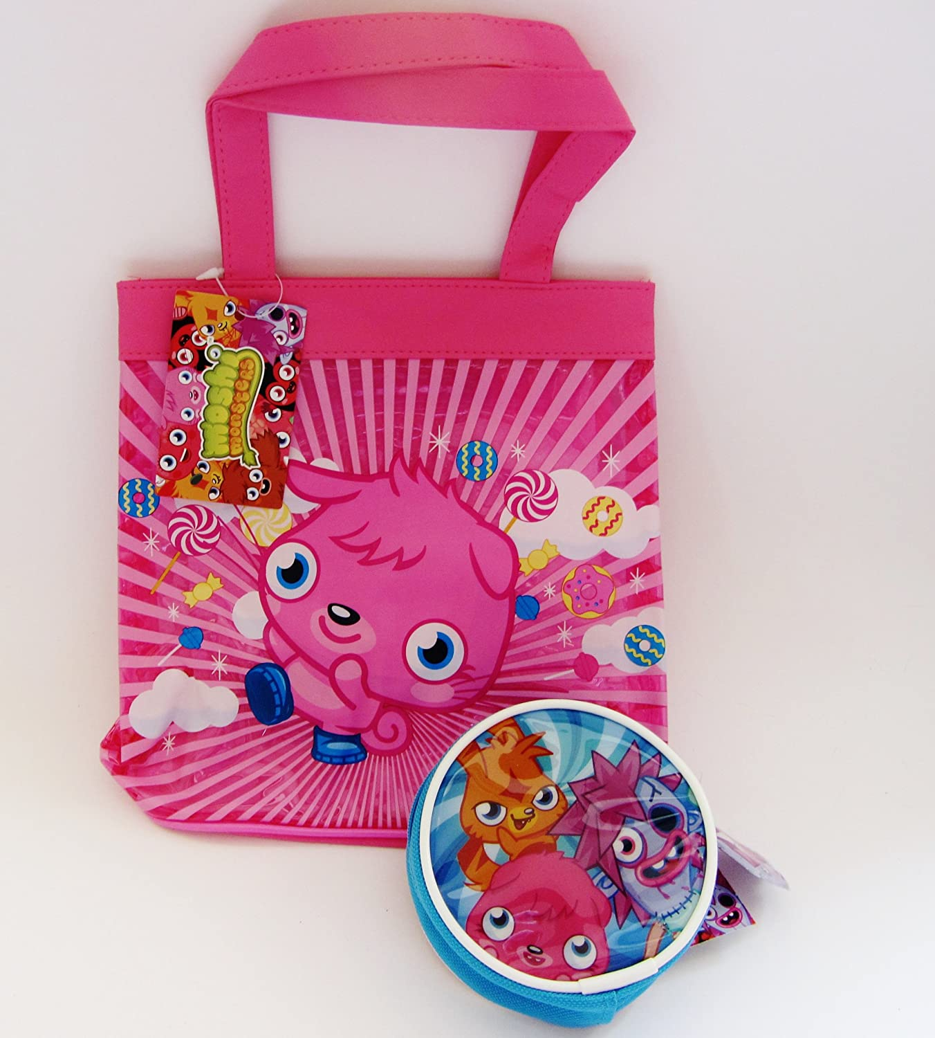Moshi monsters poppet pink handbag and purse gift set amazon co uk toys games