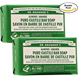Dr. Bronner's Pure-Castile Bar Soap, 5 Ounce, Twin Pack (Total 10 Oz, 5 Oz x 2)